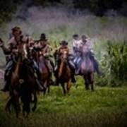 Confederate Cavalry Charge Art Print