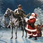 Confederate Christmas Art Print by Dan  Nance