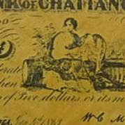 Confederate Currency  Art Print