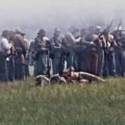 Confederate Infantry Skirmish  Art Print
