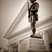 Confederate Memorial In Sepia Tone Art Print