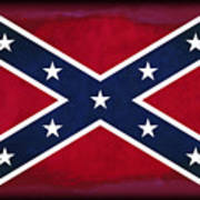 Confederate Rebel Battle Flag Art Print