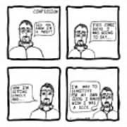 Confession Comic Art Print