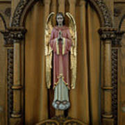Confessional - Our Lady Of Lourdes Cathedral - Spokane Art Print