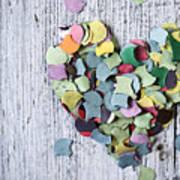 Confetti Heart Art Print