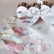 Confetti Hearts Art Print