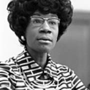 Congresswoman Shirley Chisholm Print by Everett