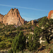 Coniferous Trees In The Garden Of The Gods Art Print