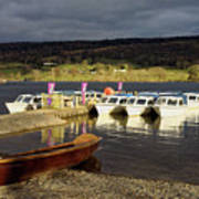 Coniston Water Boats Art Print