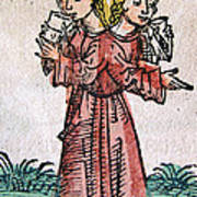 Conjoined Twins, Nuremberg Chronicle Art Print