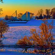 Conley Road Farm Winter  Art Print
