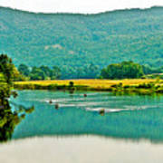 Connecticut River Between New Hampshire And Vermont Art Print