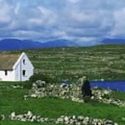Connemara, Co Galway, Ireland Cottages Art Print