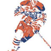 Connor Mcdavid Edmonton Oilers Pixel Art 6 Art Print