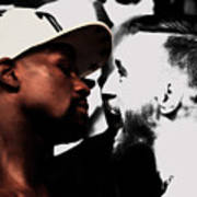 Conor Mcgregor And Floyd Mayweather Face Off  Art Print