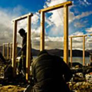 Construction In Ladakh Art Print
