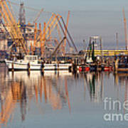 Construction Of Oil Platform With Boats Art Print