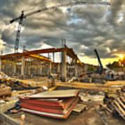 Construction Site Print by Jaroslaw Grudzinski
