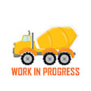 Construction Zone - Concrete Truck Work In Progress Gifts - White Background Art Print