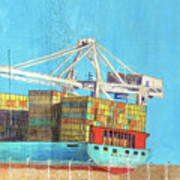 Container Jockey Art Print
