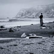Contemplation - Beach - California Art Print