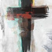 Contemporary Cross 1- Art By Linda Woods Art Print