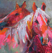 Contemporary Horses Painting Art Print