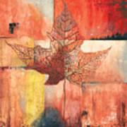 Contemporary Leaf 2 Art Print