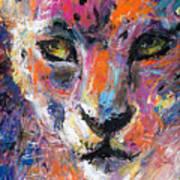 contemporary Wildlife painting cheetah leopard  Print by Svetlana Novikova