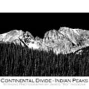 Continental Divide - Indian Peaks - Poster Art Print