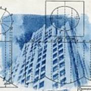 Continental life building cyanotype blueprint architecture continental life building cyanotype blueprint architecture poster malvernweather Images