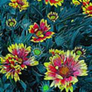 Contrasting Colors Digital Art Art Print