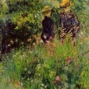Conversation In A Rose Garden 1876 Art Print
