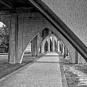Conway River Walk Black And White Art Print