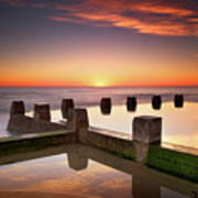 Coogee Beach At Early Morning,sydney Art Print by Noval Nugraha Photography. All rights reserved.