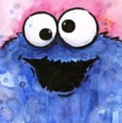 Cookie Monster Art Print