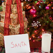 Cookies And Milk For Santa Art Print