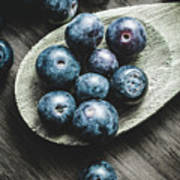 Cooking With Blueberries Art Print