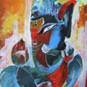 Cool And Graphical Lord Ganesha Art Print