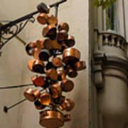 Cool Copper Pots - Parisian Restaurant Left Bank La Rive Gauche Art Print