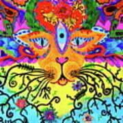 Cool Kitty Cat Art Print