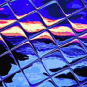 Cool Tile Reflection Art Print
