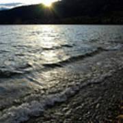 Cool Waters Sunset Art Print