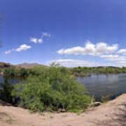 Coons Bluff Salt River Arizona Art Print