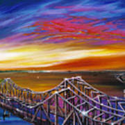 Cooper River Bridge Art Print by James Christopher Hill