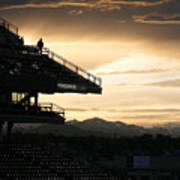 Coors Field At Sunset Art Print