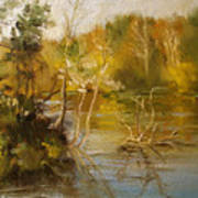 Coosa River In The Fall Art Print