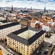 Copenhagen Skyline And Towers Art Print