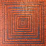 Copper And Cerulean Crack Art Print