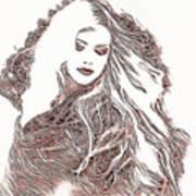 Copper Blonde Art Print